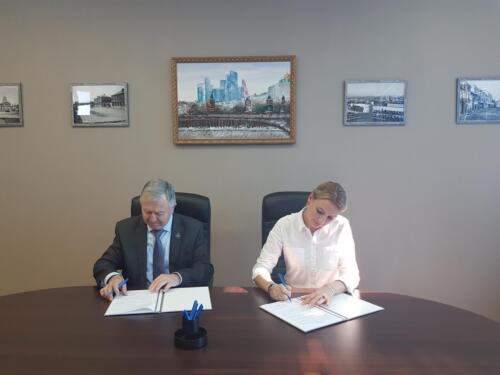 Подписание соглашения с Профсоюзом строителей г. Москвы